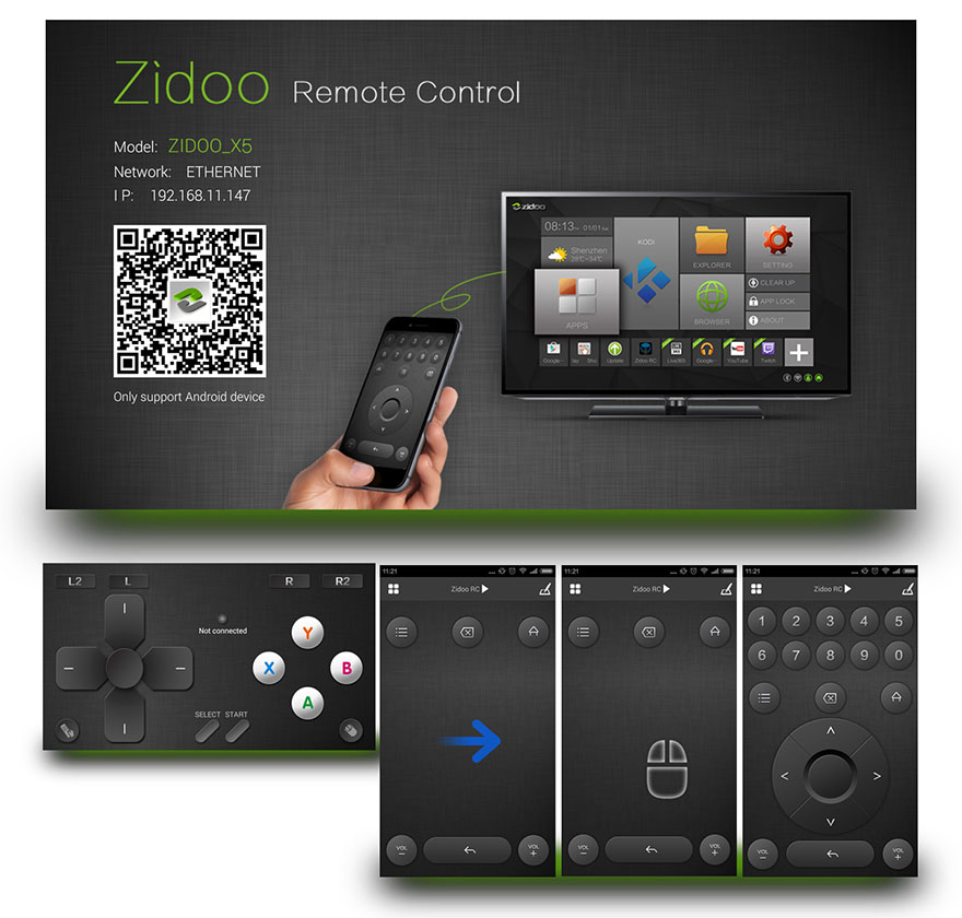 zidoo x1 ii android tv box chinh hang, chip loi tu rockchip rk3229 12